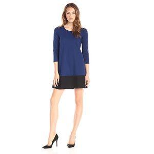 Leota color block shift dress